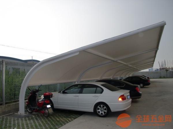 江山心悦车棚安装膜结构停车棚
