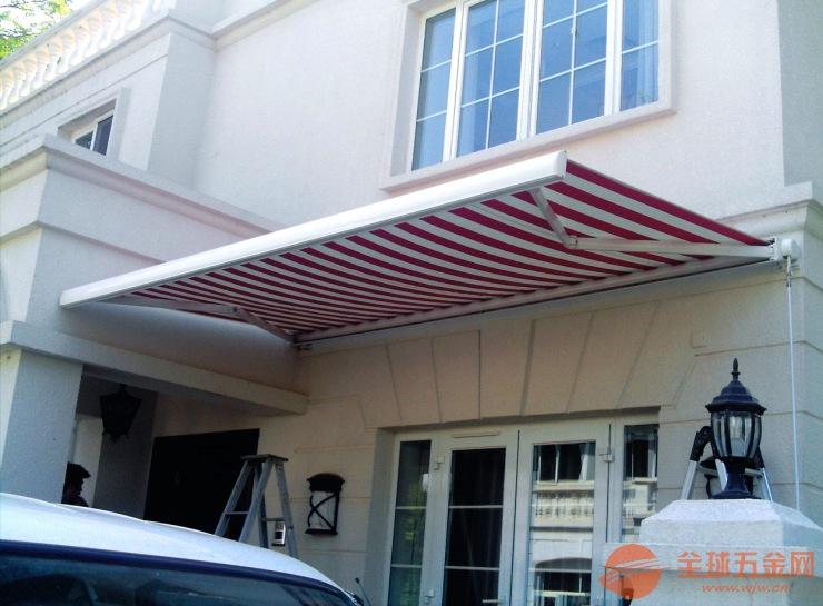 户外遮阳棚伸缩式雨棚阳台雨篷铝合金遮雨棚折叠帐篷手摇停车棚蓬-