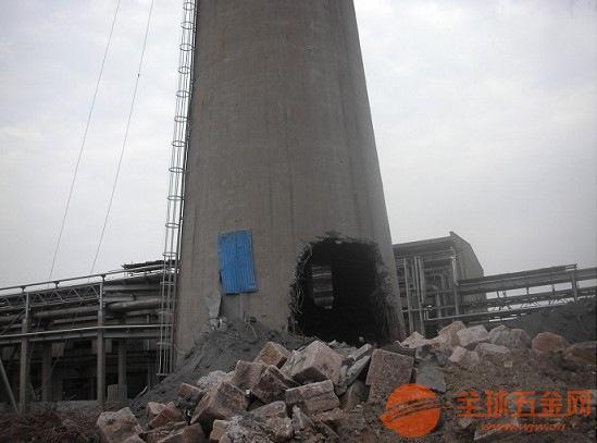 衡山县砖混烟囱拆除