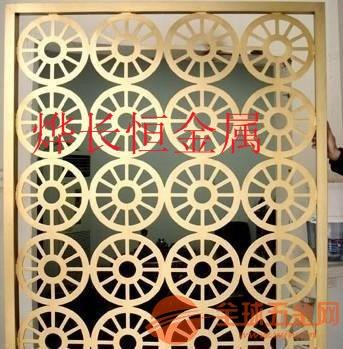 现代客厅不锈钢屏风隔断镂空雕花玫瑰金玄关 金属花格