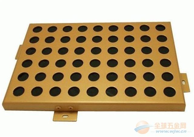 圆孔铝单板-广东省幼儿园门头圆孔铝板