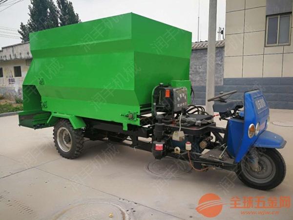 锡林郭勒畜牧设备撒料车 养殖场投料车